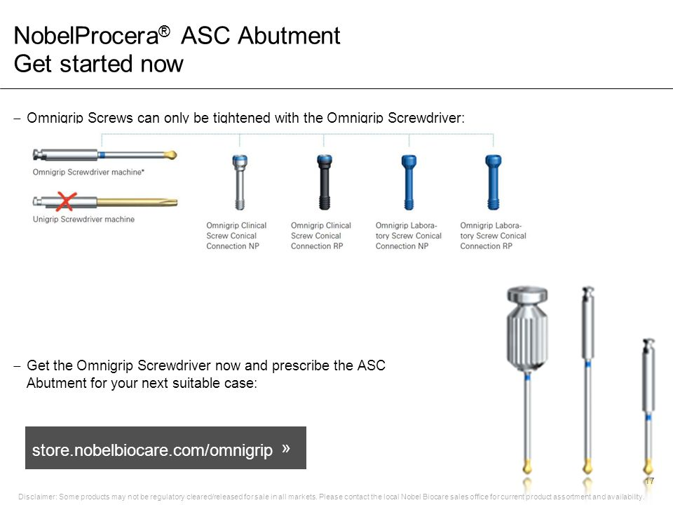 NobelProcera® ASC Abutment Get started now