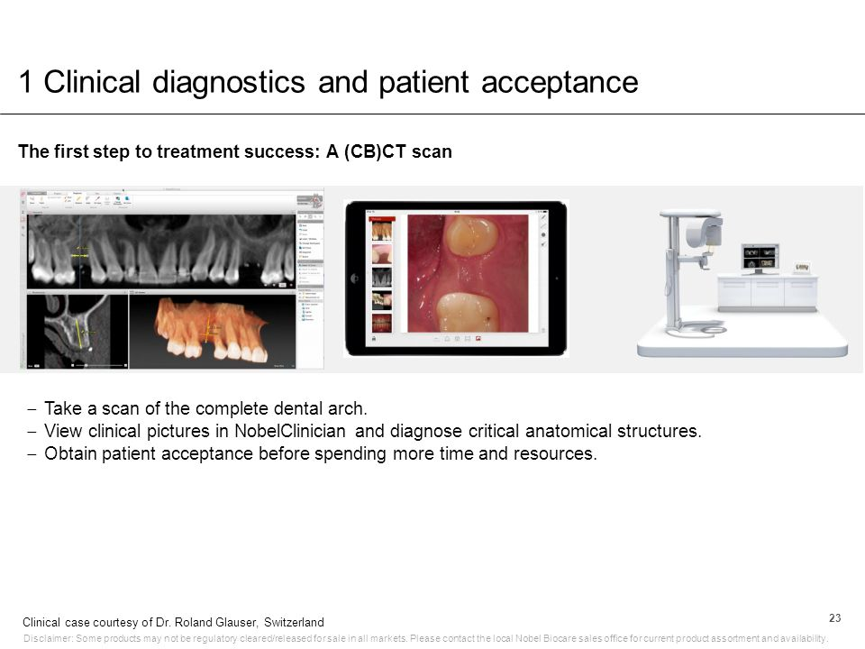 1 Clinical diagnostics and patient acceptance