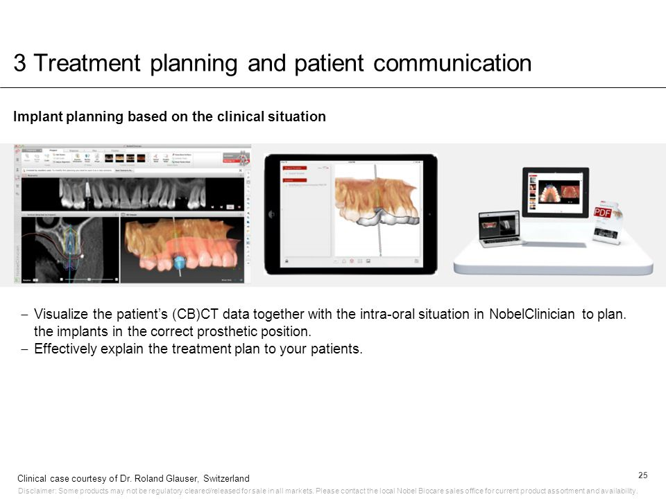 3 Treatment planning and patient communication