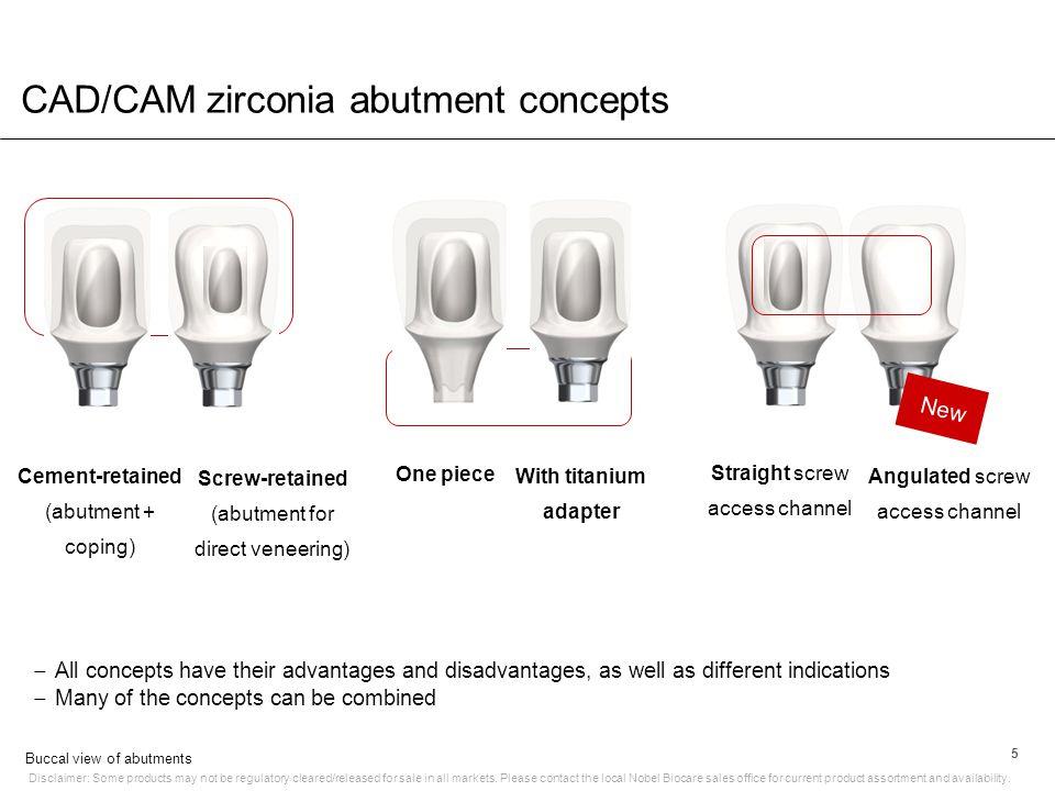 CAD/CAM zirconia abutment concepts