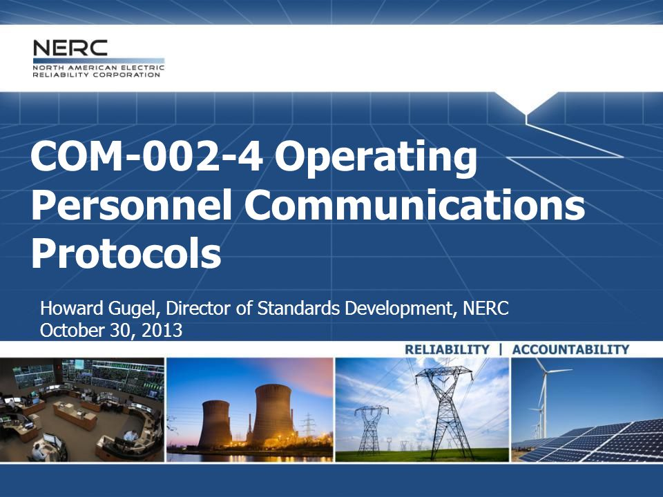 COM-002-4 Operating Personnel Communications Protocols