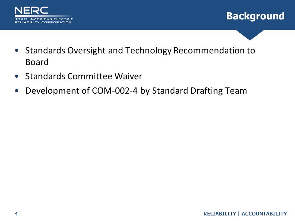Background Standards Oversight and Technology Recommendation to Board. Standards Committee Waiver.