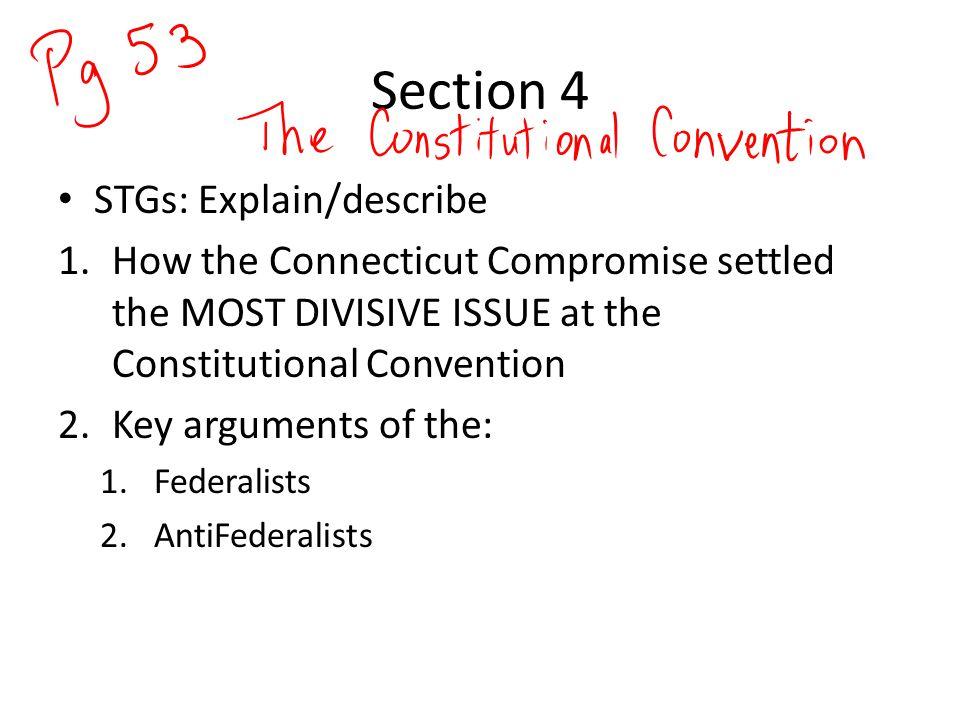Section 4 STGs: Explain/describe