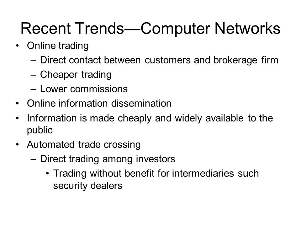 Recent Trends—Computer Networks
