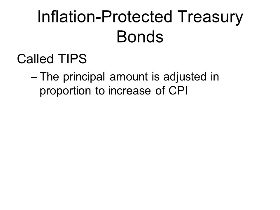 Inflation-Protected Treasury Bonds