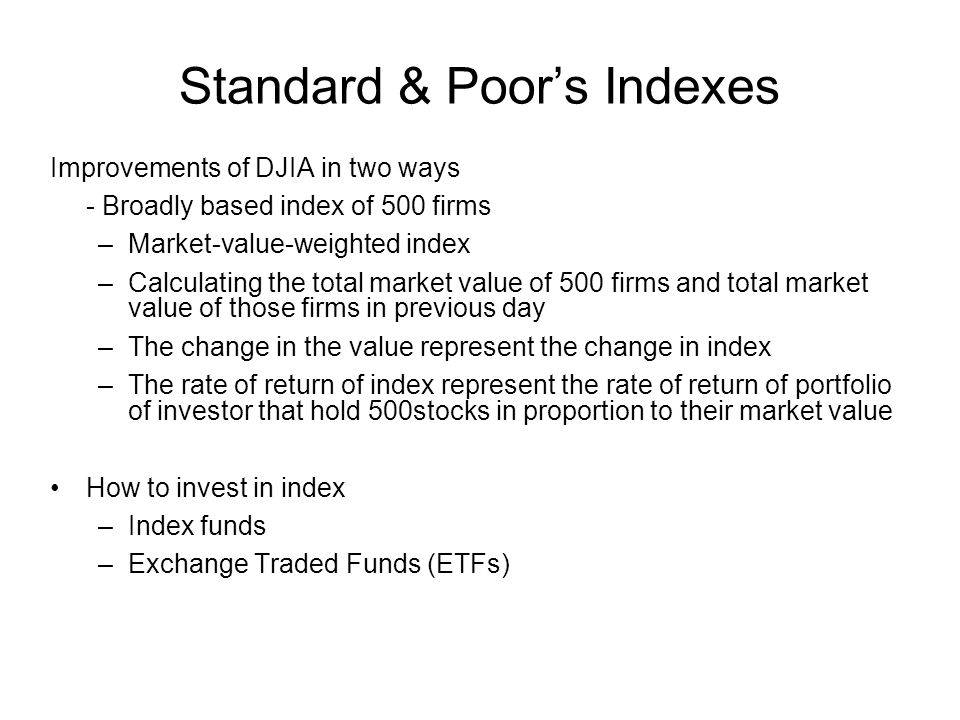 Standard & Poor's Indexes