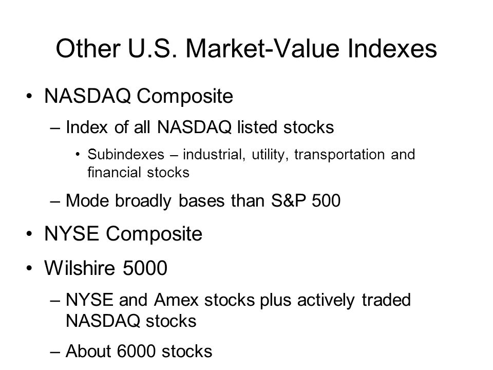 Other U.S. Market-Value Indexes