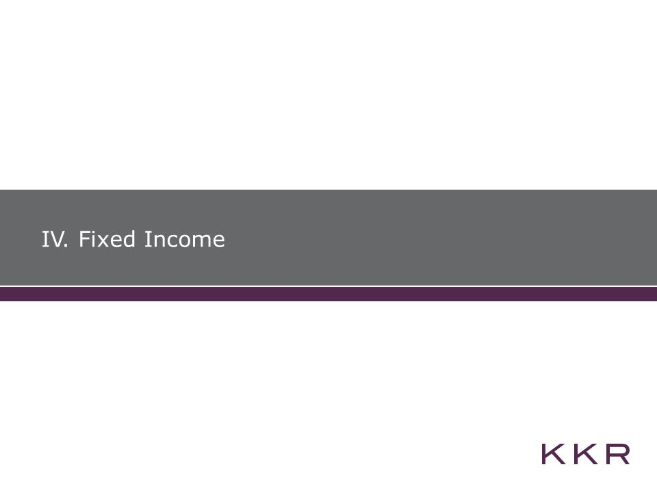 IV. Fixed Income
