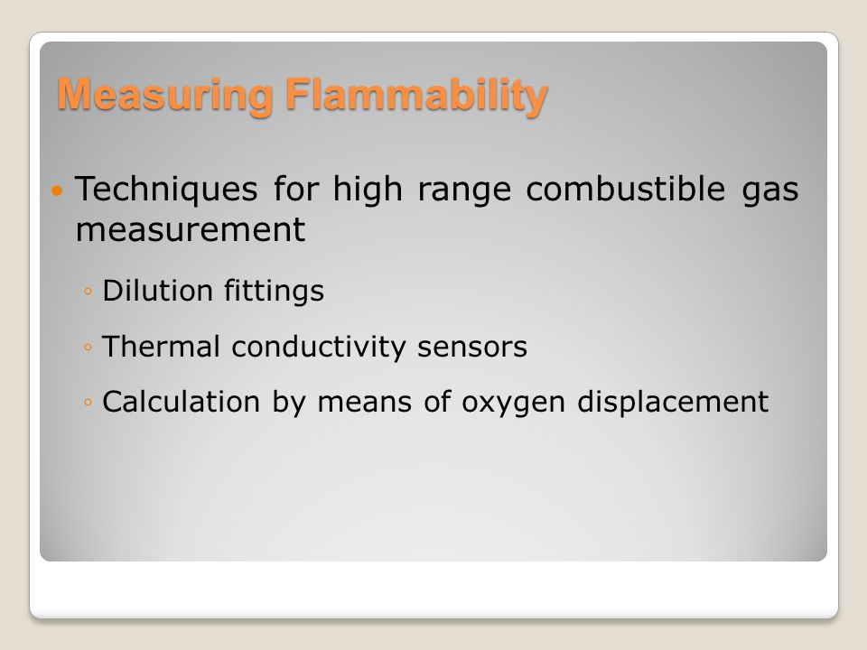 Measuring Flammability