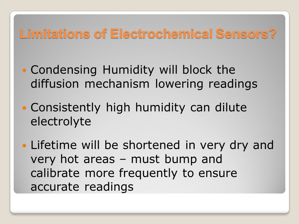 Limitations of Electrochemical Sensors
