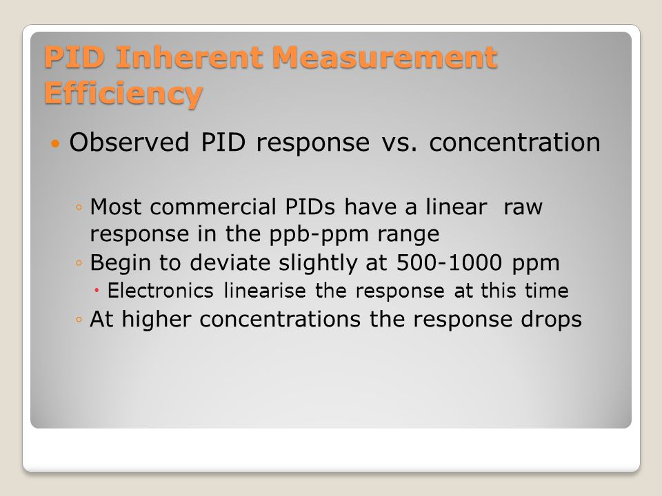 PID Inherent Measurement Efficiency