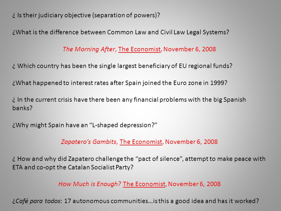¿ Is their judiciary objective (separation of powers)