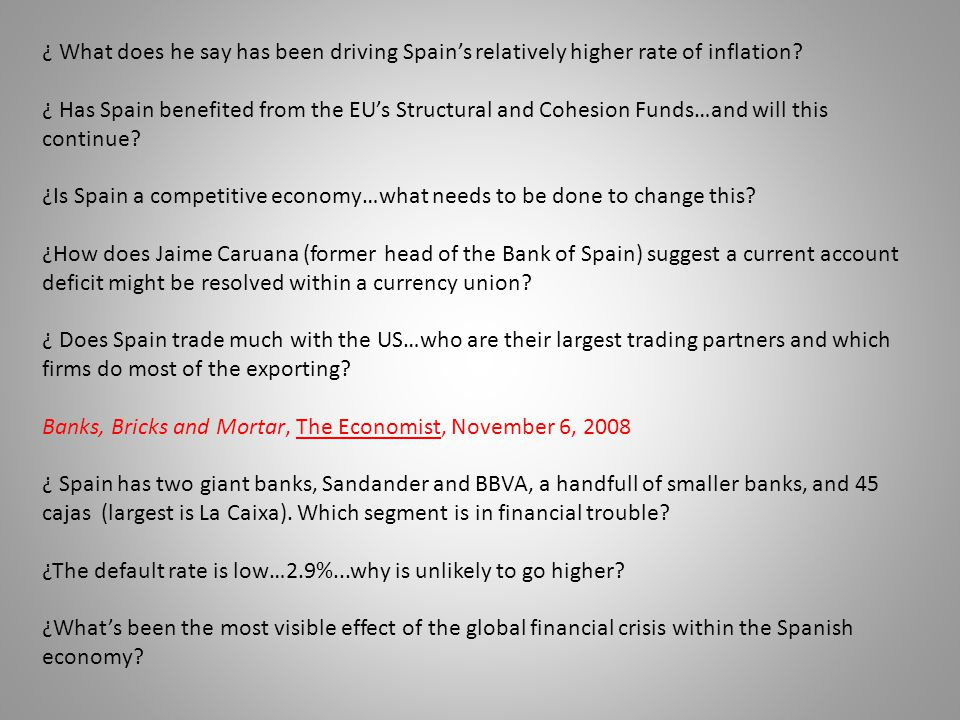 ¿Is Spain a competitive economy…what needs to be done to change this
