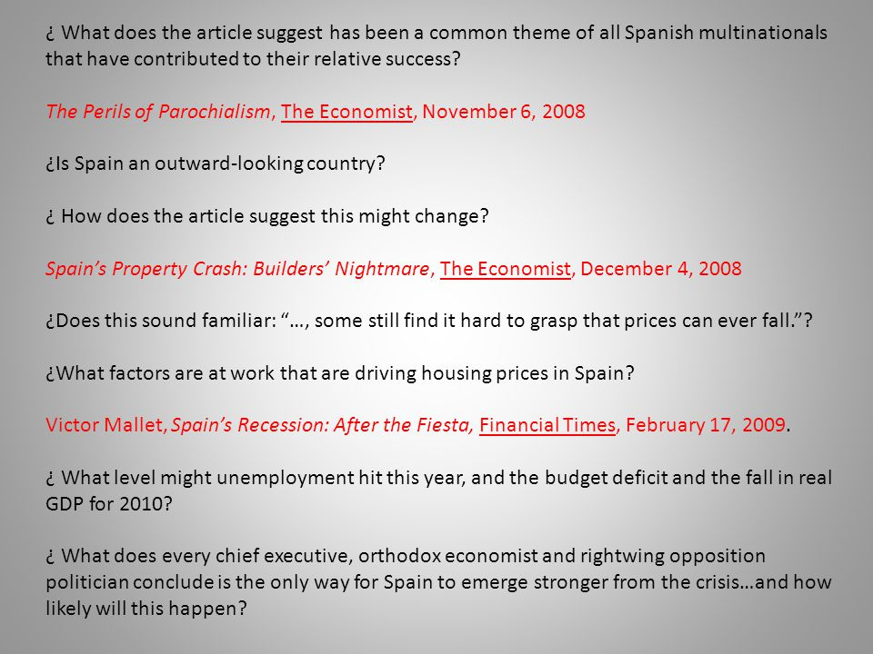 The Perils of Parochialism, The Economist, November 6, 2008