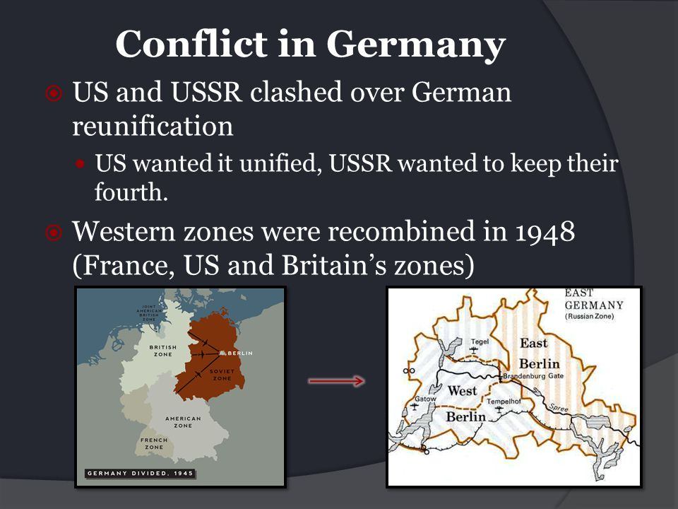 Conflict in Germany US and USSR clashed over German reunification
