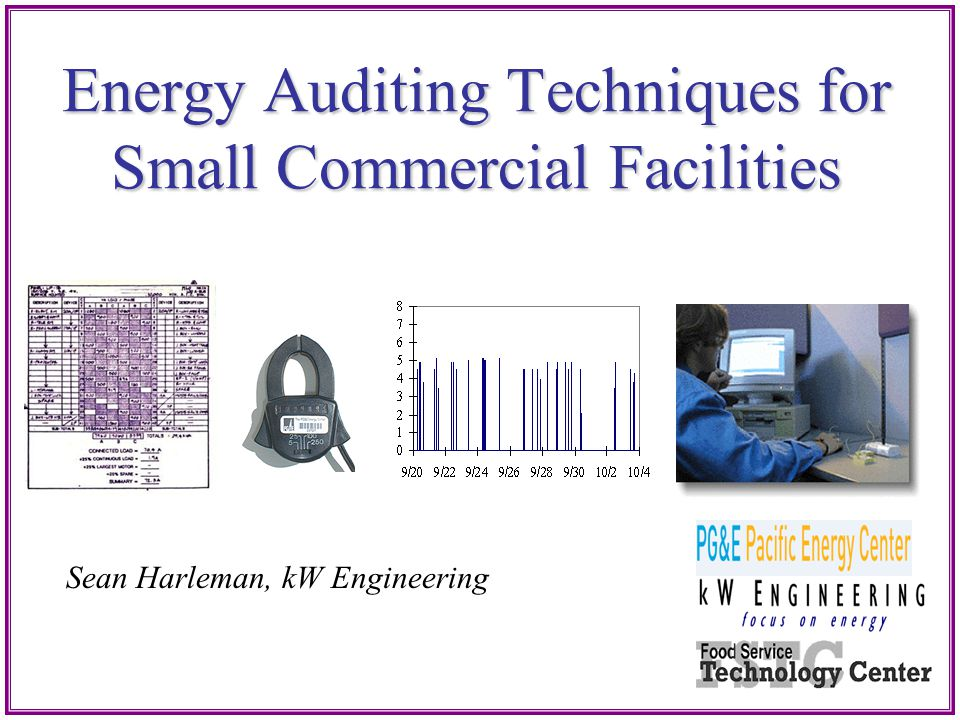 Energy Auditing Techniques for Small Commercial Facilities
