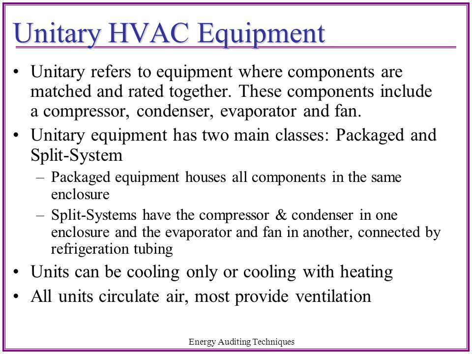 Unitary HVAC Equipment