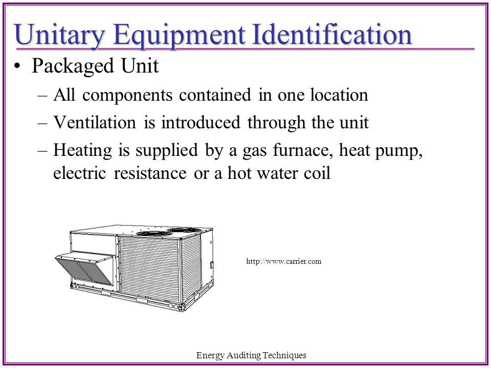 Unitary Equipment Identification