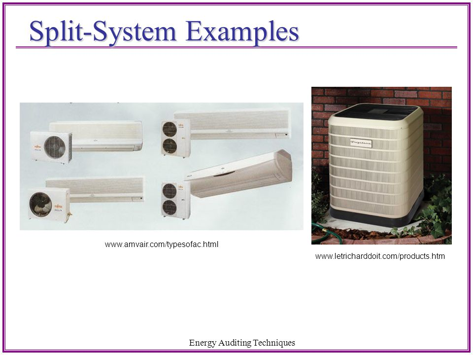 Split-System Examples