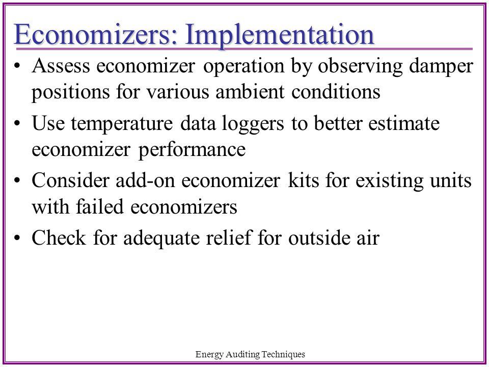 Economizers: Implementation
