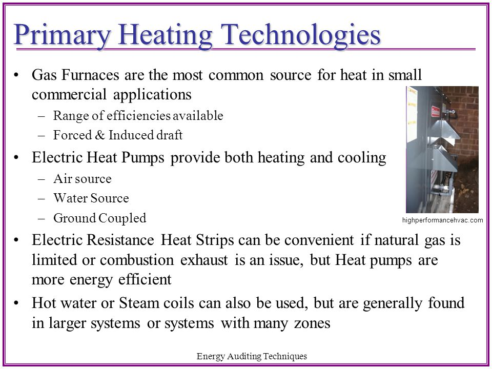 Primary Heating Technologies