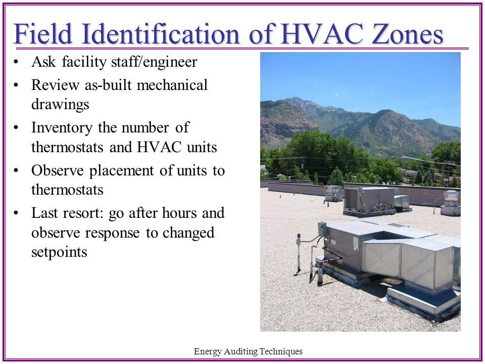 Field Identification of HVAC Zones