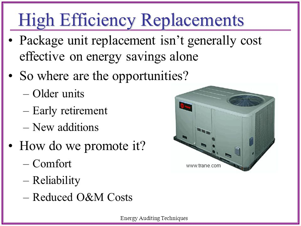High Efficiency Replacements
