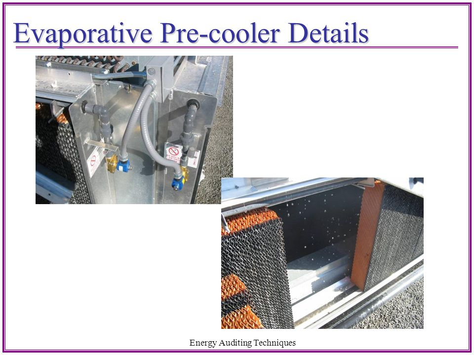 Evaporative Pre-cooler Details