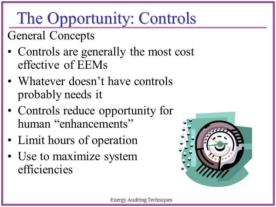 The Opportunity: Controls