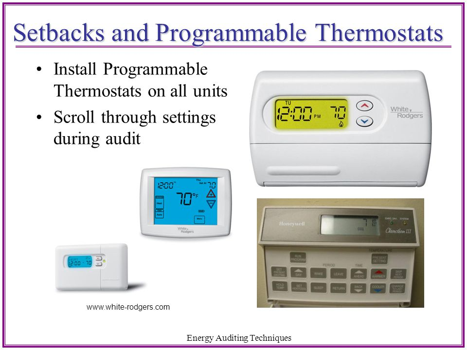 Setbacks and Programmable Thermostats