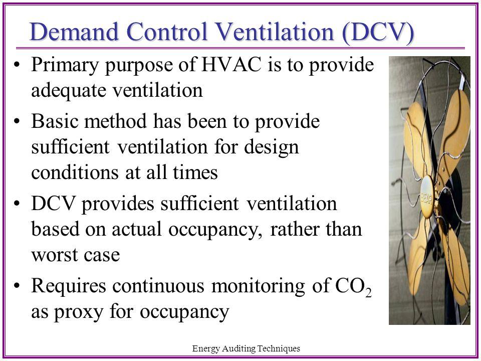 Demand Control Ventilation (DCV)