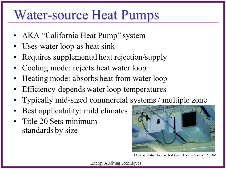 Water-source Heat Pumps