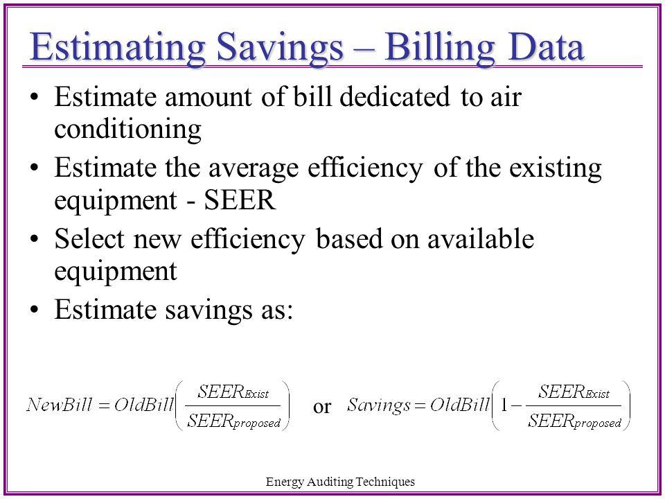 Estimating Savings – Billing Data