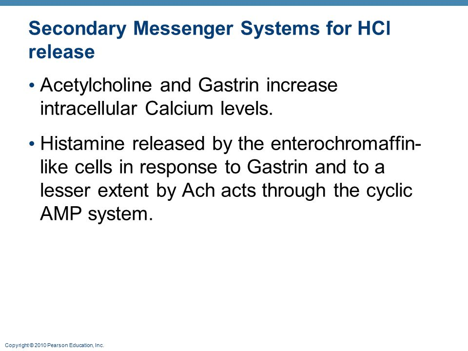 Secondary Messenger Systems for HCl release