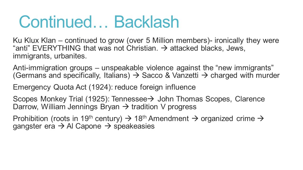 Continued… Backlash