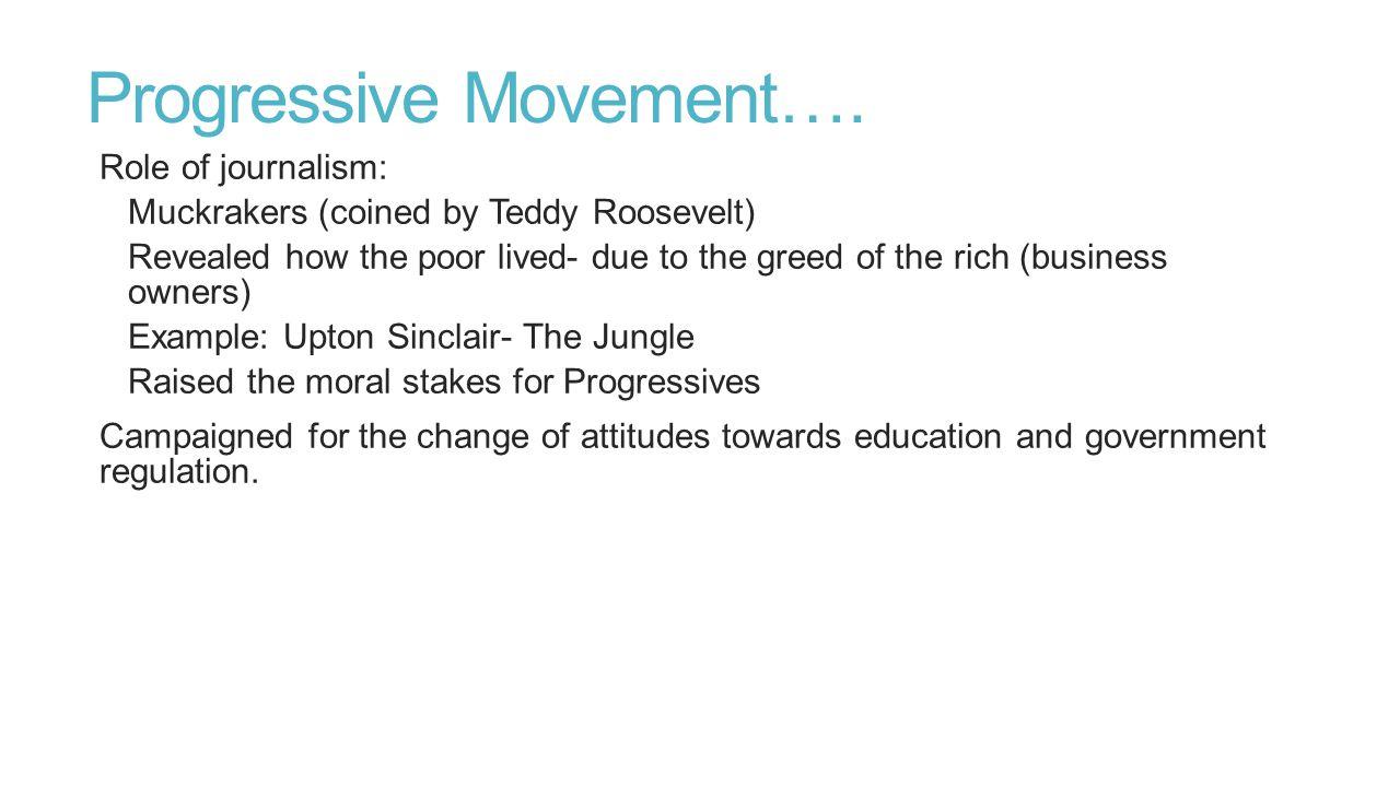 Progressive Movement….