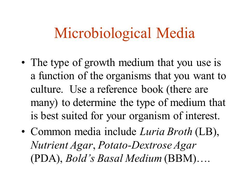 Microbiological Media