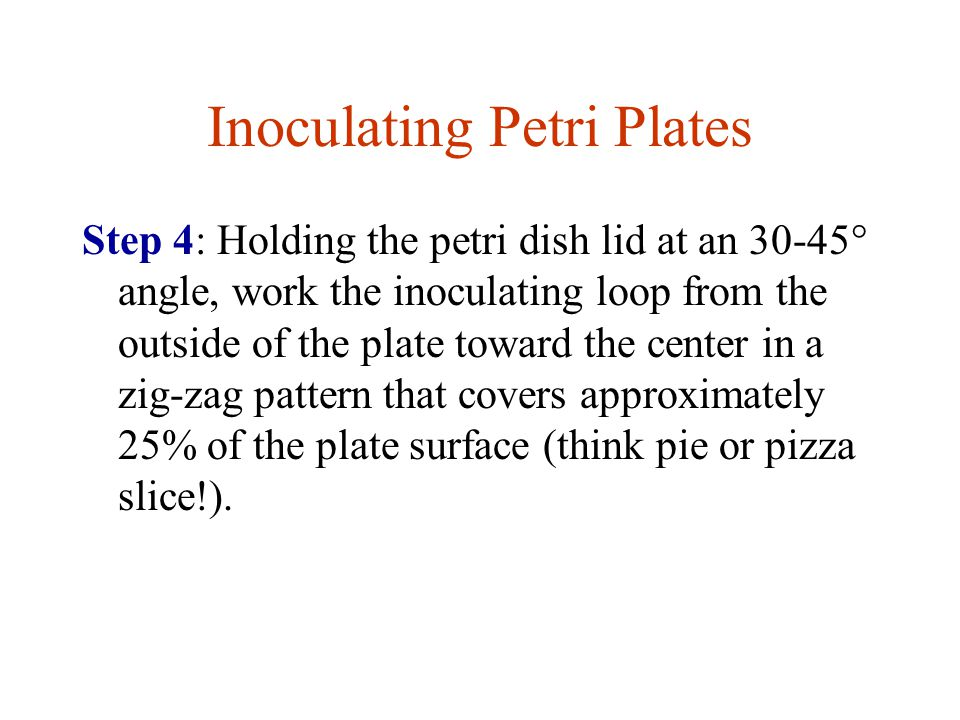 Inoculating Petri Plates