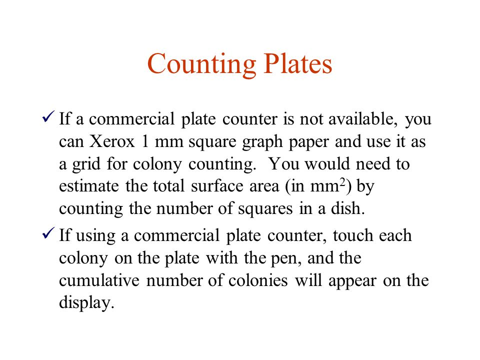 Counting Plates