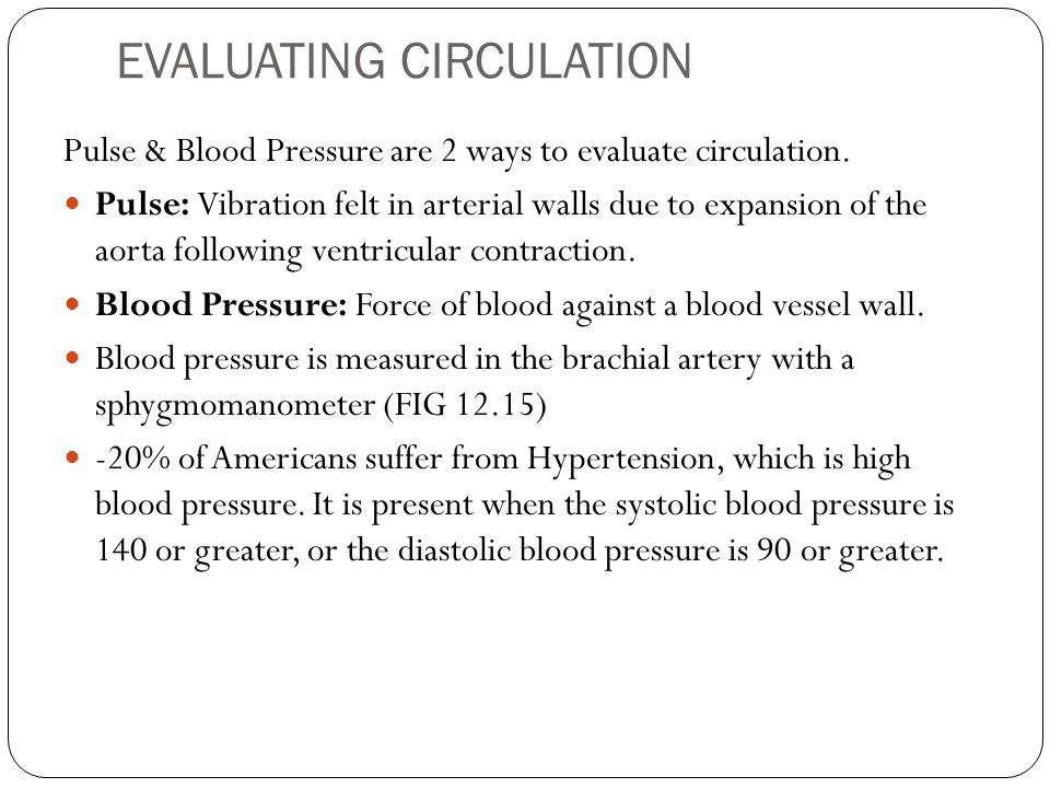 EVALUATING CIRCULATION