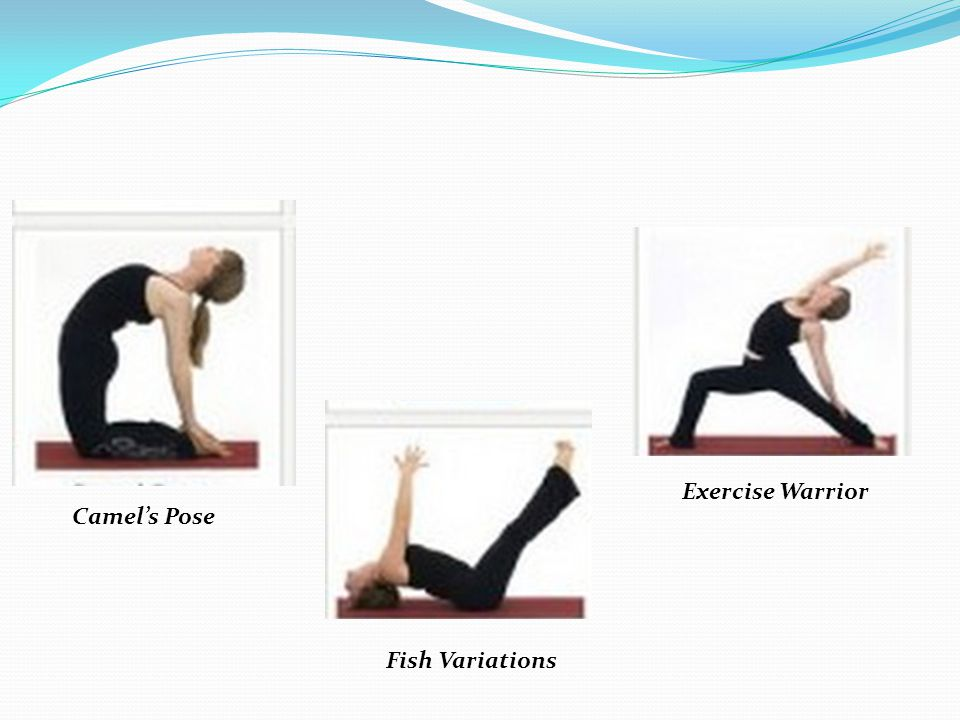 Exercise Warrior Camel's Pose Fish Variations
