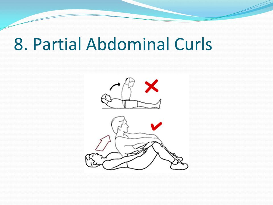 8. Partial Abdominal Curls