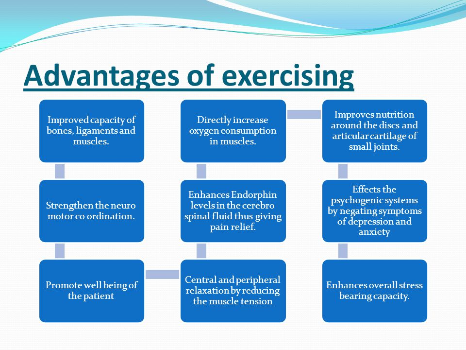 Advantages of exercising