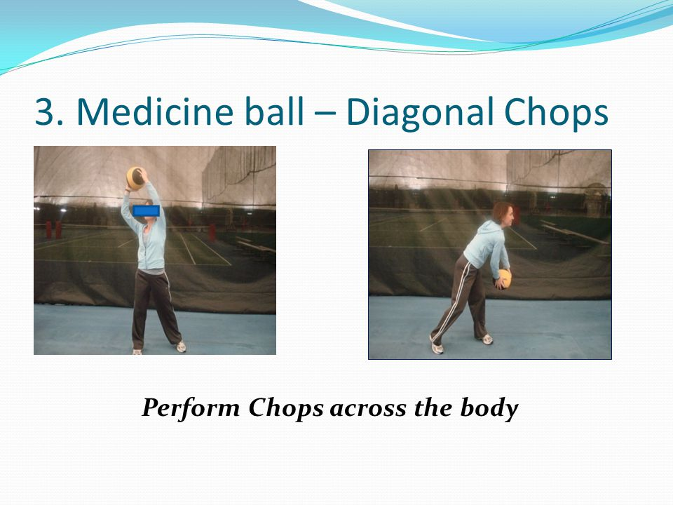 3. Medicine ball – Diagonal Chops