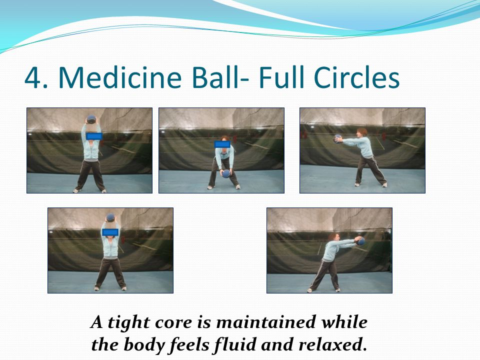 4. Medicine Ball- Full Circles