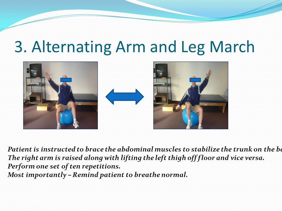 3. Alternating Arm and Leg March