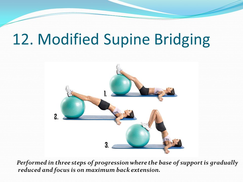 12. Modified Supine Bridging