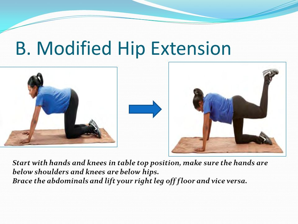 B. Modified Hip Extension
