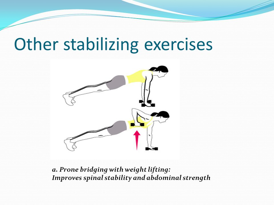 Other stabilizing exercises
