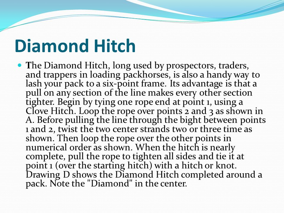 Diamond Hitch